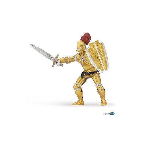 Cavaliere in armatura dorata