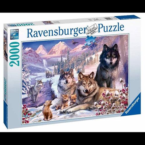 Puzzle 2000 pz. - Lupi nella neve