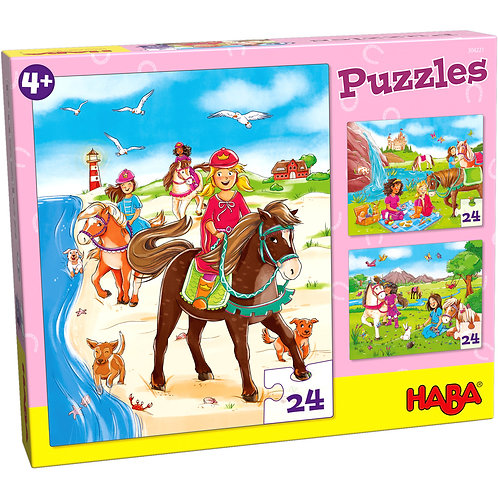 3x24 pz. Haba - Amiche dei cavalli