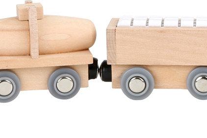Treno: Trenino magnetico legno c/5 vagoni