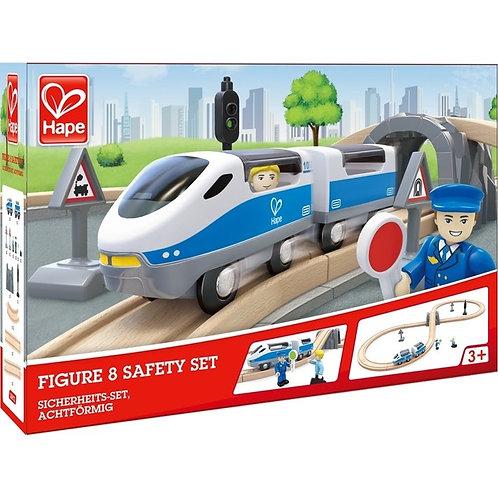 Ferrovia di città con merci e passeggeri