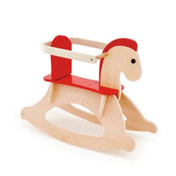 Cavallo a dondolo con schienale rimovibile
