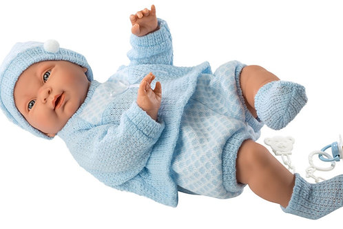 Bambola New Born Vinile cm. 45 Hugo azzurro