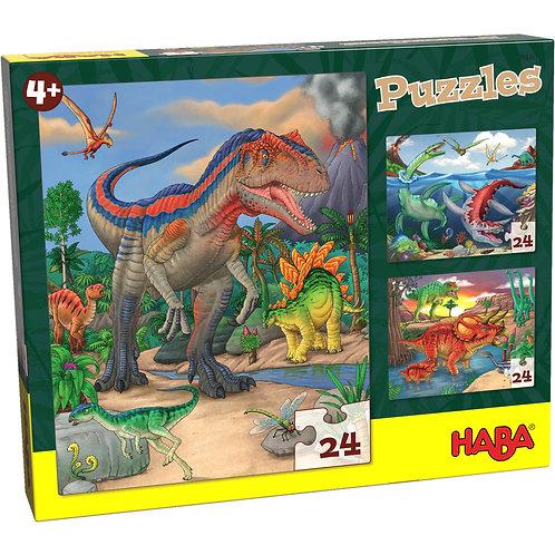 3x24 pz. Haba - Dinosauri