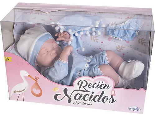 Bebé neonato azzurro che dorme - cm. 38