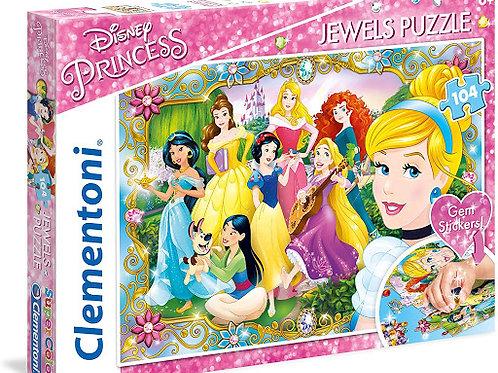 Puzzle 104 pz. jawels . Principesse Disney