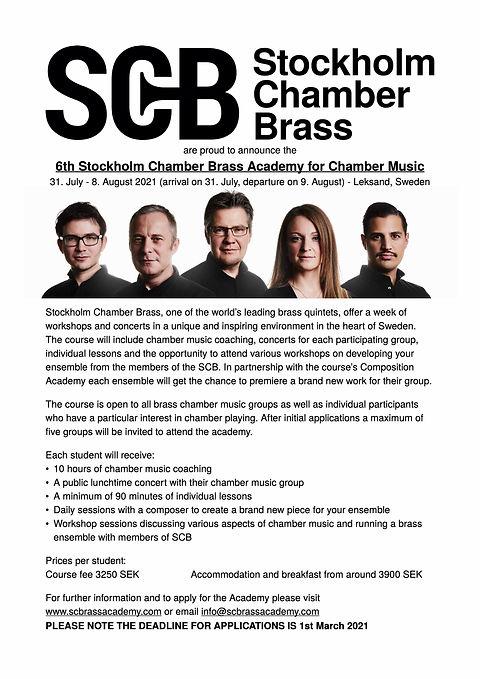 Stockholm Chamber Brass Academy InfoPost