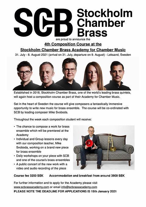 Stockholm Chamber Brass Academy COMPOSER