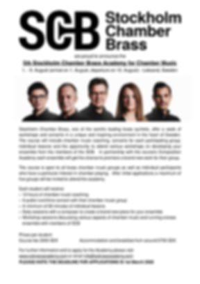 Stockholm Chamber Brass Academy InfoPost