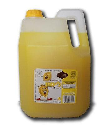 """סירופ בטעם לימון 4 ל' אחווה בדץ העד""""ח"""