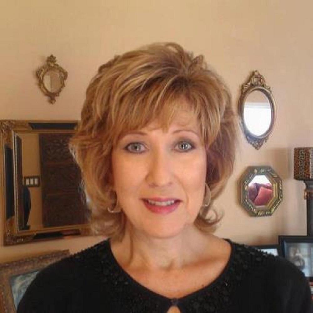 Makeup on a mature woman