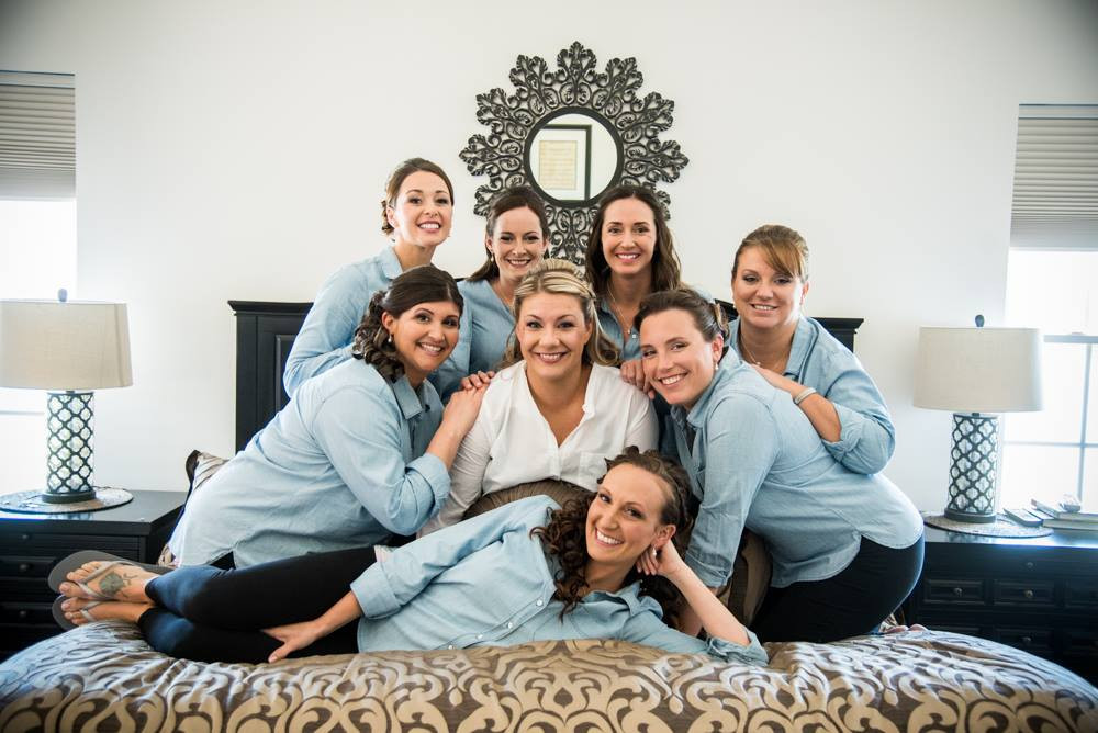 Bridal Party in Matching Denim Shirts