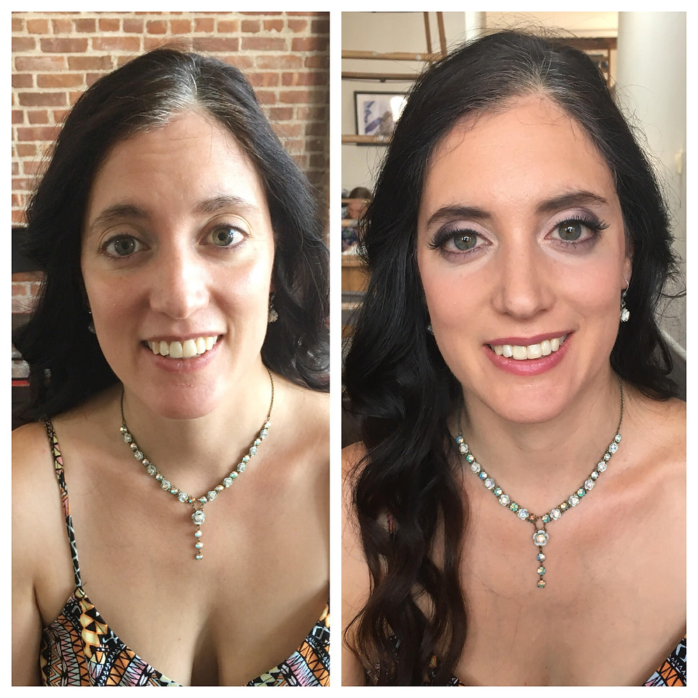 bridesmaid makeup with false lashes