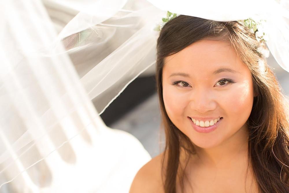 Asian bride with natural makeup