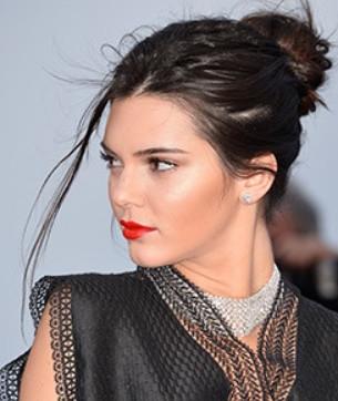 Kendall Jenner Rocks a Red Lip