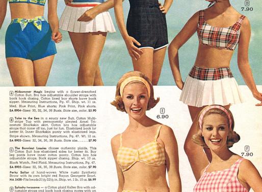 A moda praia vintage