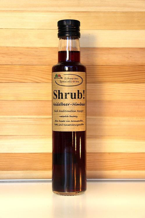 Schusters Spezialitäten - Shrub! Heidelbeer-Himbeer Sirup