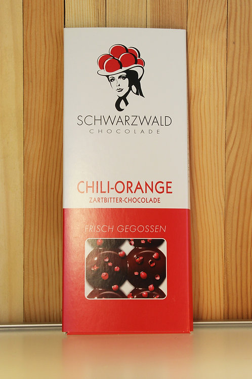Schwarzwald Chocolade Chili-Orange (zartbitter) 60g