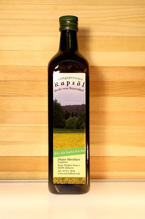 Kaltgepresstes Rapsöl direkt vom Bauernhof - für die kalte Küche