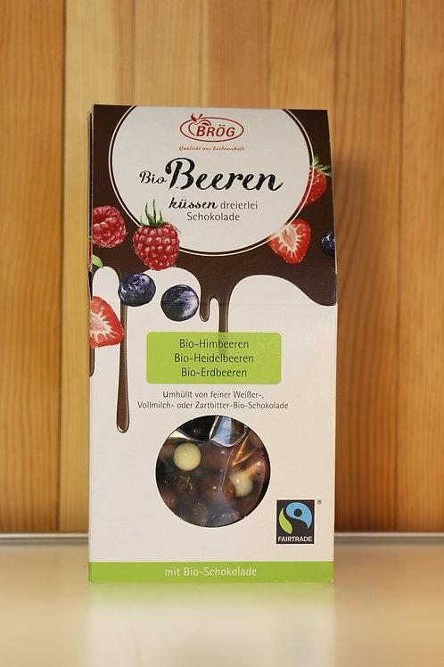 BRÖG Bio Beeren küssen dreierlei Schokolade