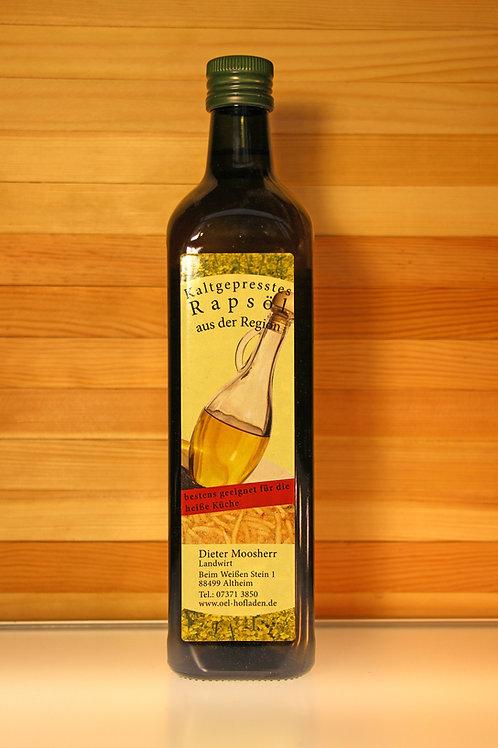 Kaltgepresstes Rapsöl direkt vom Bauernhof - für die heiße Küche