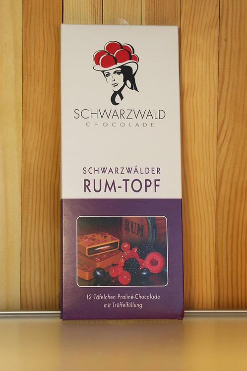 Schwarzwald Chocolade Schwarzwälder Rum-Topf 100g
