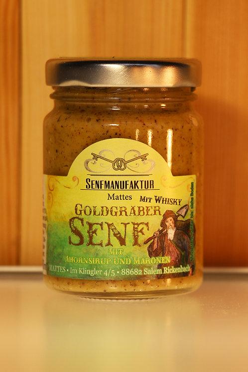 SENFMANUFAKTUR MATTES - Goldgräber Senf mit Ahornsirup und Maronen