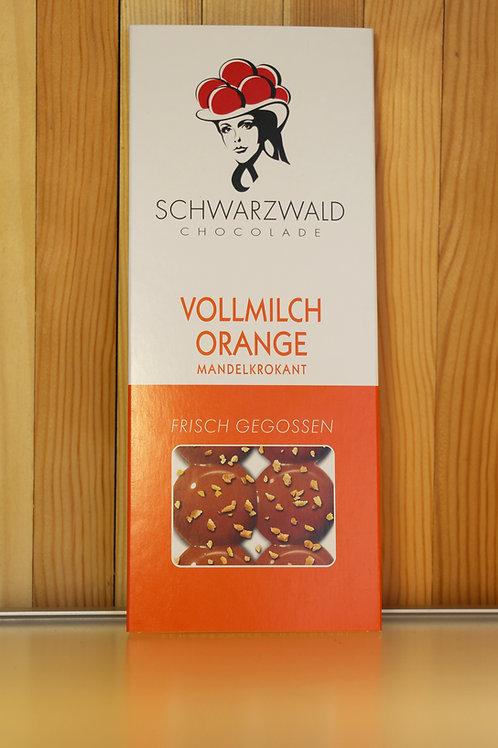 Schwarzwald Chocolade Vollmilch-Orange (Mandelkrokant)