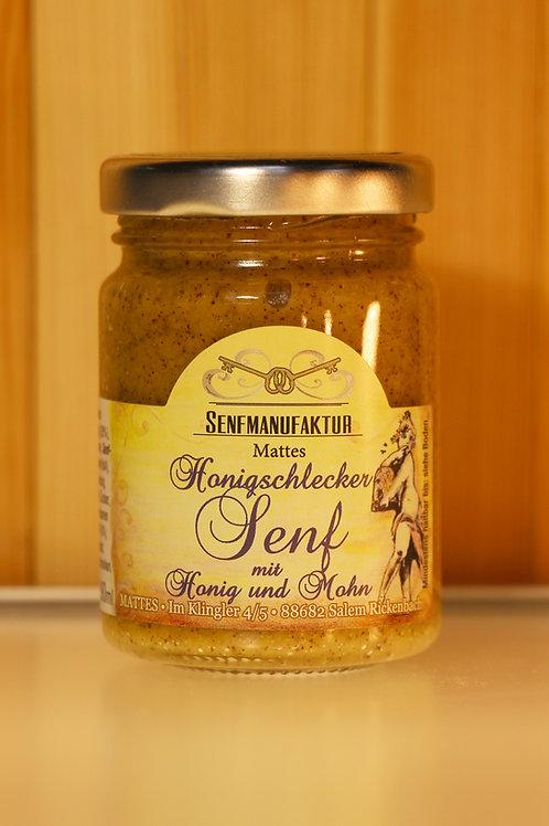SENFMANUFAKTUR MATTES - Honigschlecker Senf mit Honig und Mohn