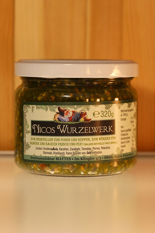 Nicos Wurzelwerk zum herstellen von Fonds, Suppen, Saucen usw.
