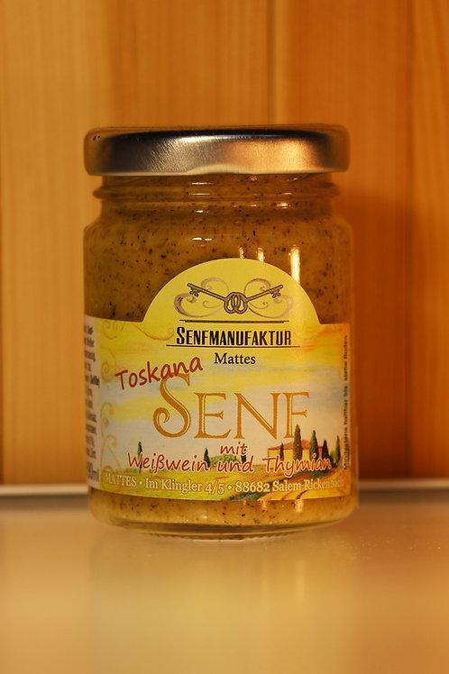 SENFMANUFAKTUR MATTES - Toskana Senf mit Weißwein und Thymian