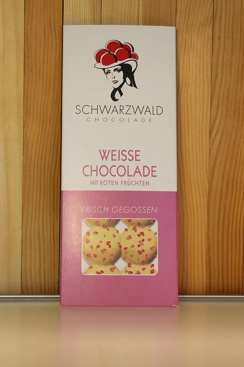 Schwarzwald Chocolade Weisse Chocolade mitroten Früchten 60g