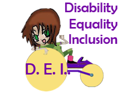 Disability Equality Inclusion logo