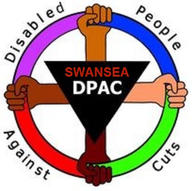 Swansea Disabled people against cuts logo