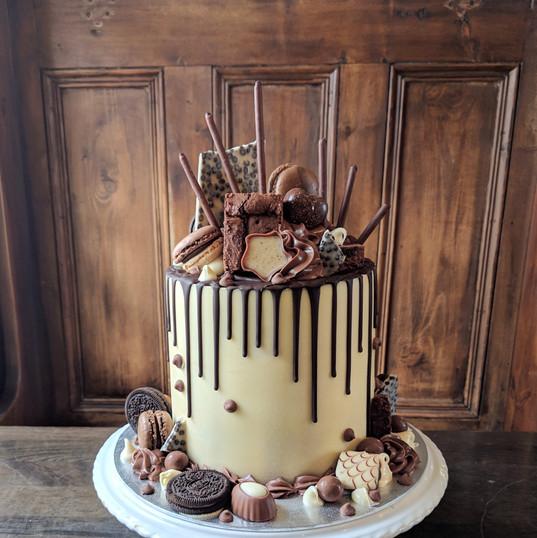 Chocolate Overload on white chocolate
