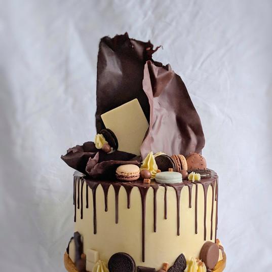 Chocolate overload on white choc