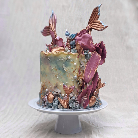 Copper Mermaid Cake