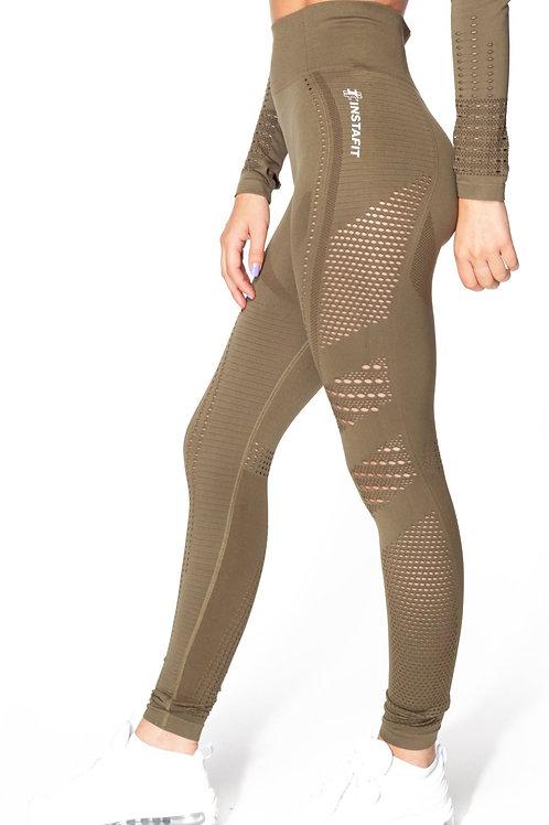 V2 Khaki Seamless Leggings