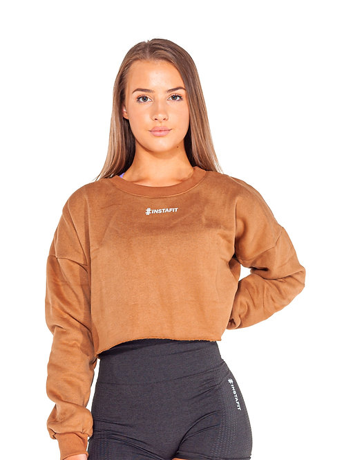 Stone Cropped Hoodie