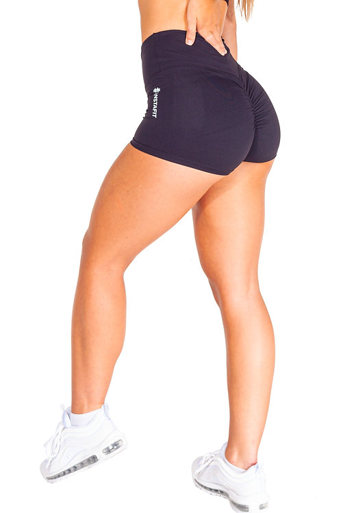 Black Scrunch Shorts