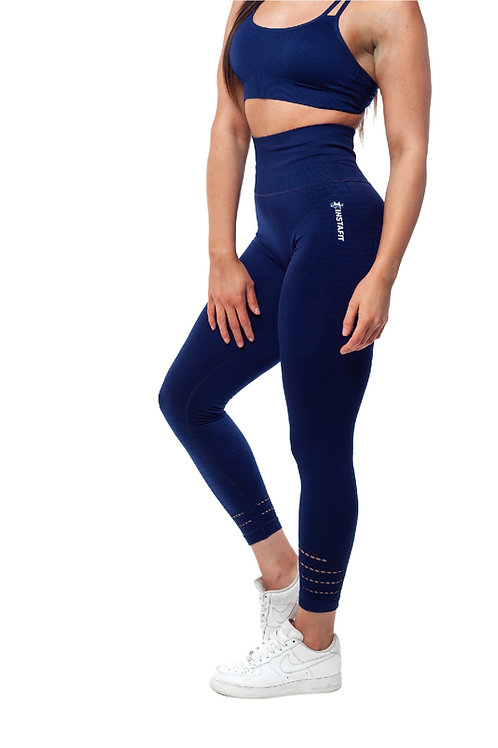 Blue Hi Seamless Leggings