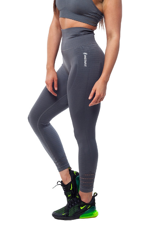 Grey Hi Seamless Leggings