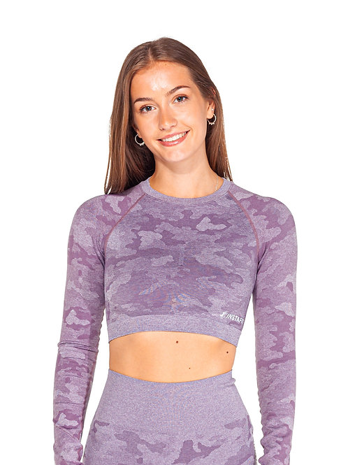 Lilac Camo Cropped Top