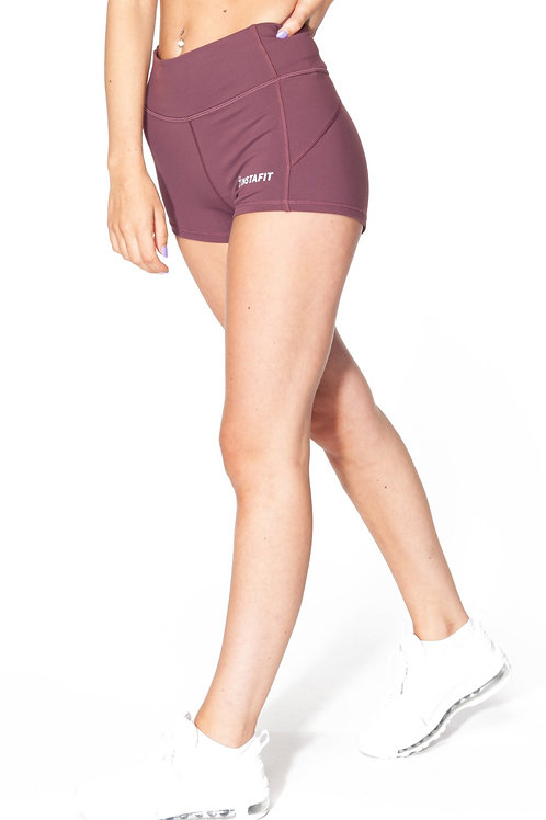 Purple Tight Fit Shorts