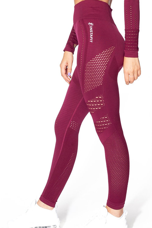 V2 Burgundy Seamless Leggings