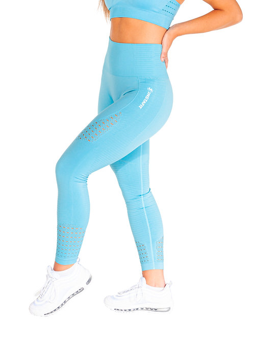 Light Blue Seamless Leggings