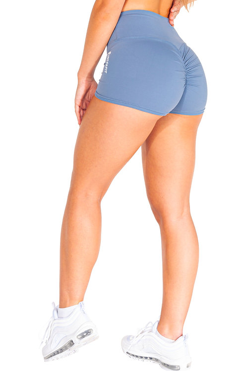 Denim Scrunch Shorts