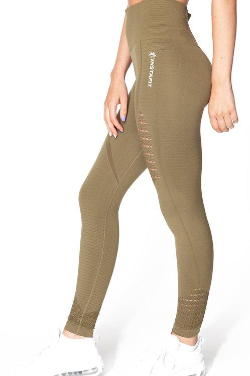 Khaki Seamless Leggings