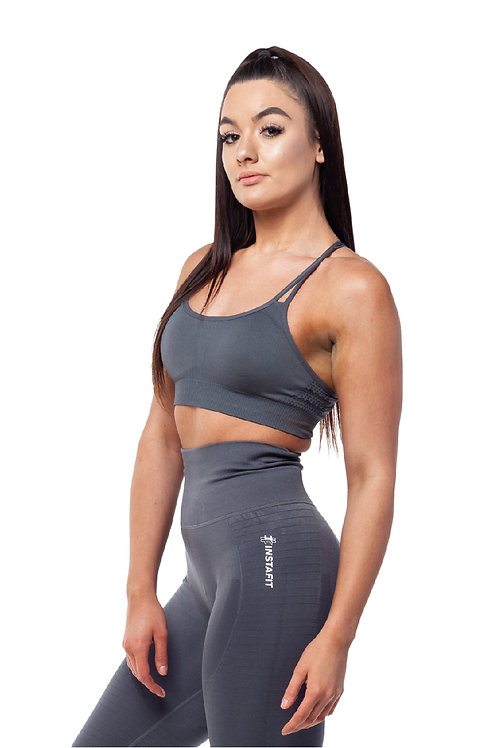 Grey Hi Sports Bra