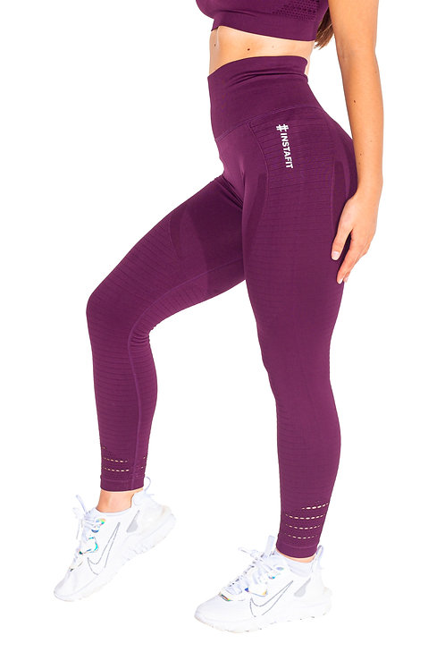Burgundy Hi Seamless Leggings